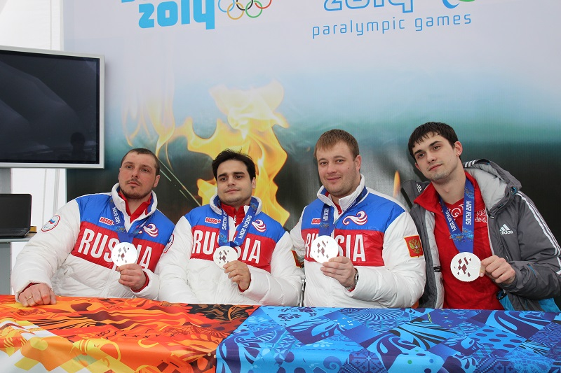 Silver medalists of the Paralympic Games Sohi-2014