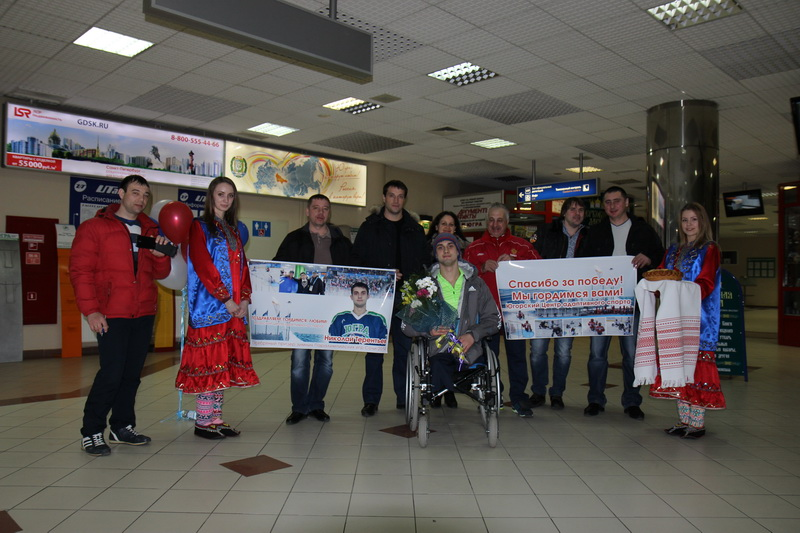 Meeting of silver medalists of the Paralympic GamesSohi-2014.Khanty-Mansiysk, March 2014