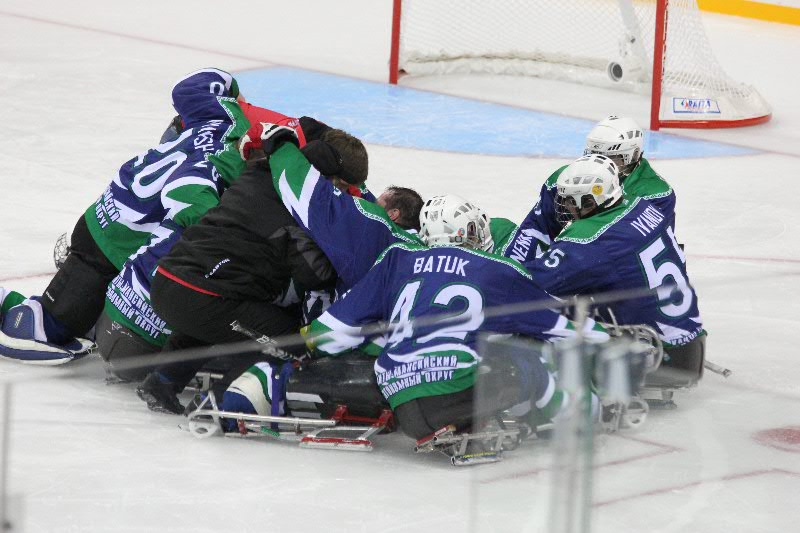 Final of the Russian championship's sledge hockey сехзона 2012-2013